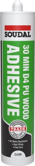 Soudal 30 Minute D4 PU Wood Adhesive Gel Cartridge