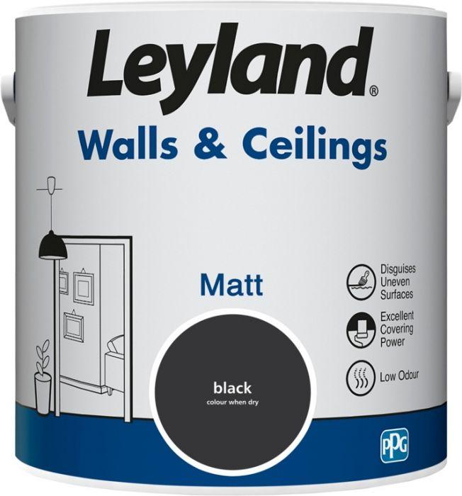 Leyland Walls & Ceilings Matt Black 2.5ltr