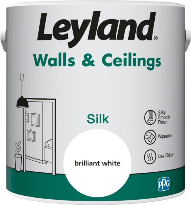 Leyland Walls & Ceilings Silk Brilliant White 2.5ltr