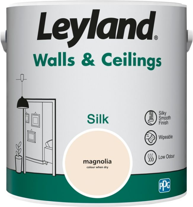 Leyland Walls & Ceilings Silk Magnolia 2.5ltr