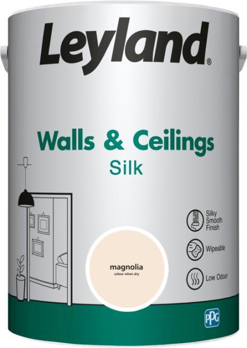 Leyland Walls & Ceilings Silk Magnolia 5ltr