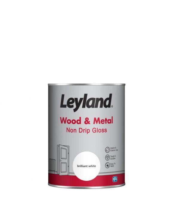 Leyland Wood & Metal Non Drip Gloss Brilliant Wht 1.25lt