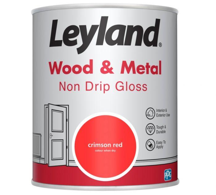 Leyland Wood & Metal Non Drip Gloss Crimson Red 750ml