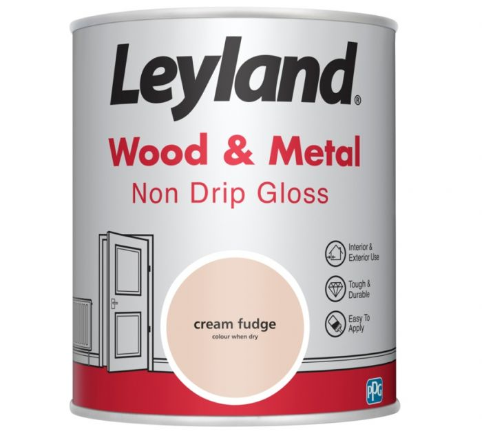 Leyland Wood & Metal Non Drip Gloss Cream Fudge 750ml