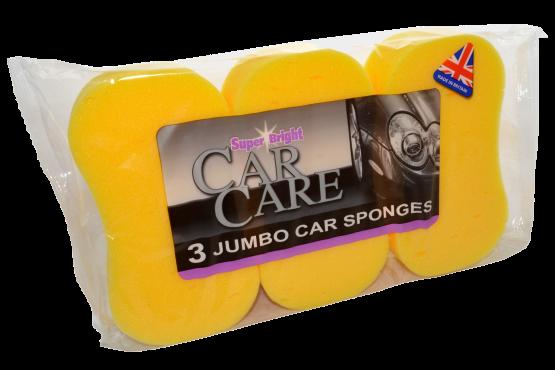 Superbright Jumbo Car Sponge Pack 3