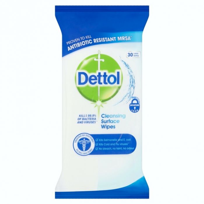 Dettol Surface Wipes Pack 30