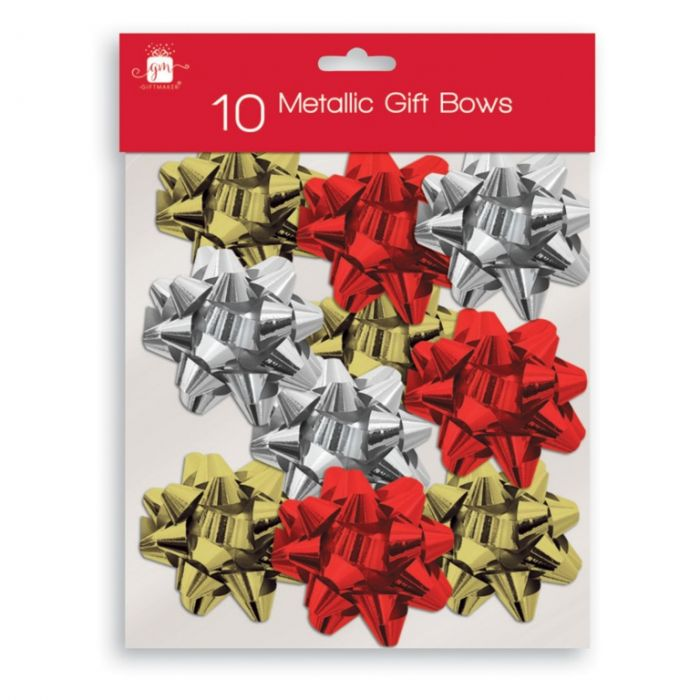 Large Gold Silver Red Bows