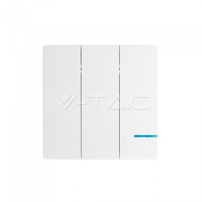 V-Tac 3 Gang Wireless Way Sensor Switch IP54