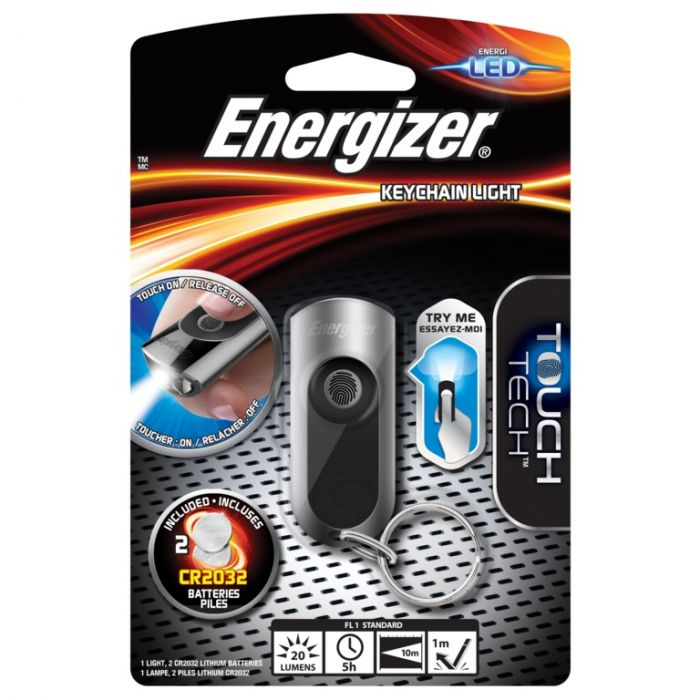 Energizer LED Keychain Torch With Touch Tech