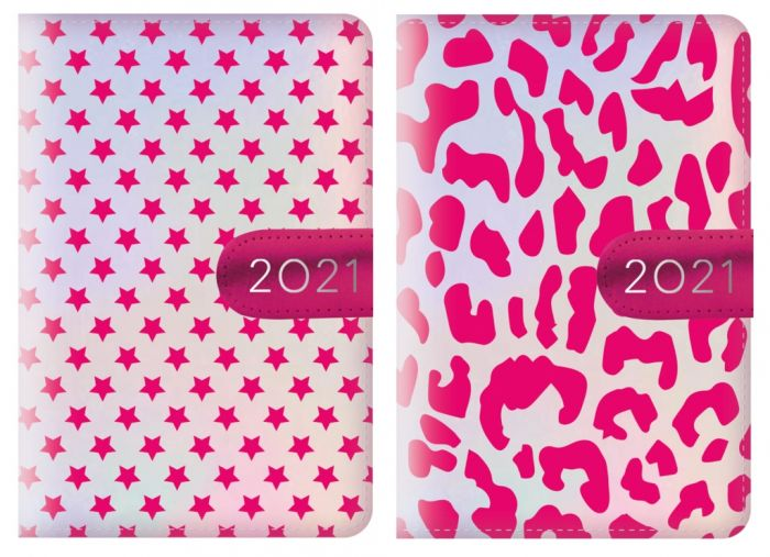 Pu Organiser Leopard Print Stars