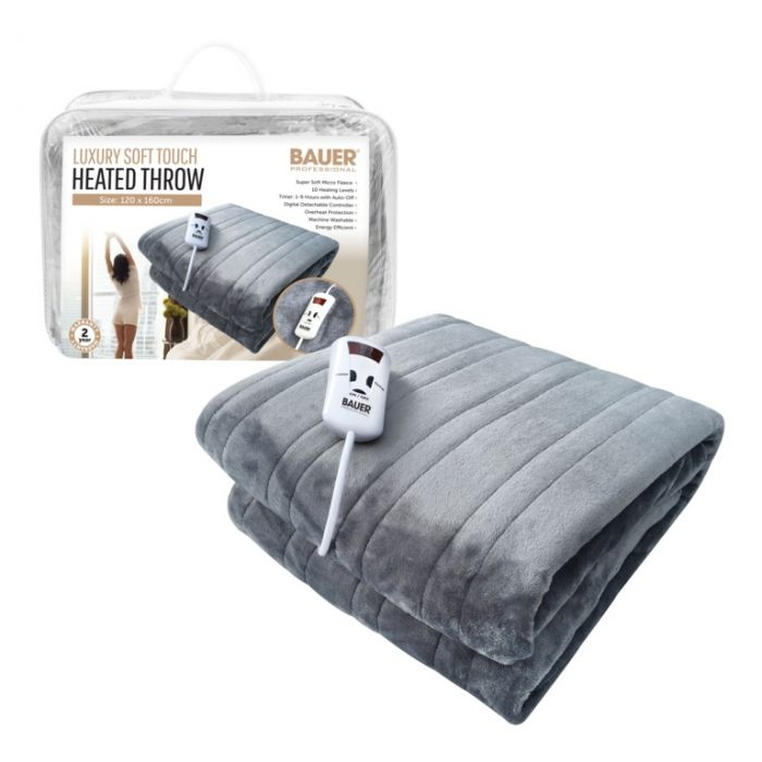 Bauer Luxury Soft Touch Heated Throw