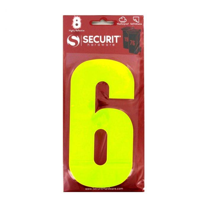 Securit Hi Vis Self Adhesive Wheelie Bin Numbers