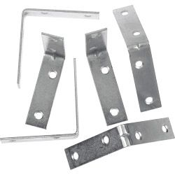 SupaFix Steel Corner Bracket Zinc Plated - 50mm - Pack 10