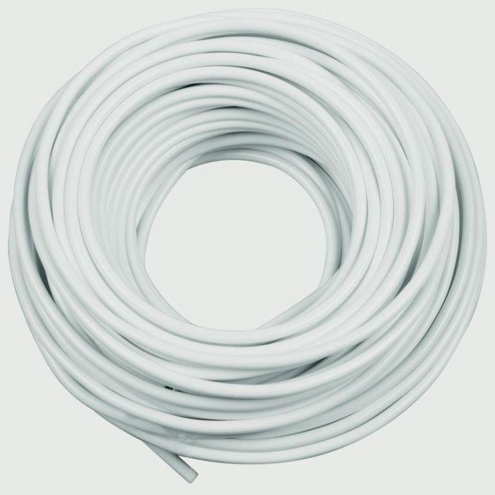 SupaFix Sprung Curtain Wire 100cm - White Plastic Coated