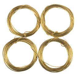 SupaFix Brass Picture Wire Coil Pack 10 3.5M
