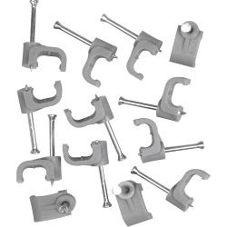 SupaLec Cable Clips Flat Pack of 100 1.5mm - Grey