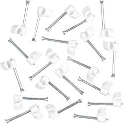 SupaLec Cable Clips Round Pack of 100 3.5mm - White