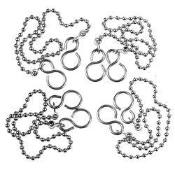 SupaFix Ball Bath Chain and S Hook Pack 5 18 Bath - Chrome Plated