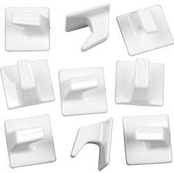 SupaFix Self Adhesive Square Hooks Medium - White