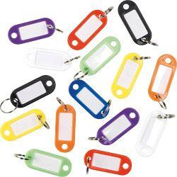SupaFix Key Ring Labels Plastic - Assorted Colours