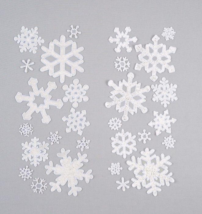 Snowflake Window Sticker Set