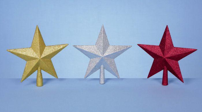 Glitter Tree Top Star