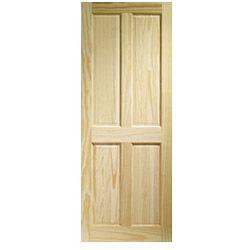 Lpd Doors Clear Pine Victorian 4 Panel Door 78 X 30 X35mm