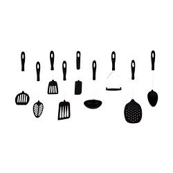 Probus Litchfield Nylon Slotted Spoon Black