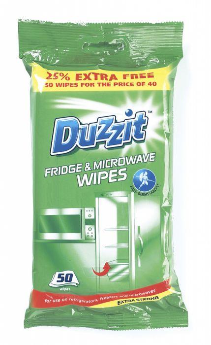 Duzzit Fridge & Microwave Wipes 50 Pack
