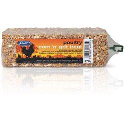 Johnsons Vet Poultry Corn 'n' Grit Treat 270g