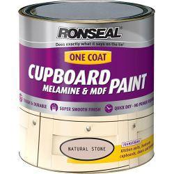 Ronseal One Coat Cupboard Melamine & MDF Paint 750ml Ivory