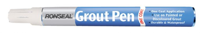 Ronseal One Coat Grout Pen Brilliant White 15ml
