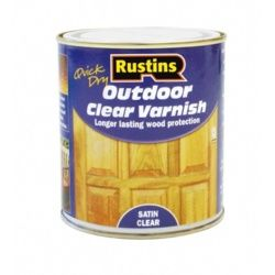 Rustins Quick Dry Outdoor Clear Varnish Satin 250ml