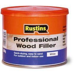 Rustins Professional Wood Filler 500g White