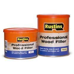 Rustins Professional Wood Filler 1kg White