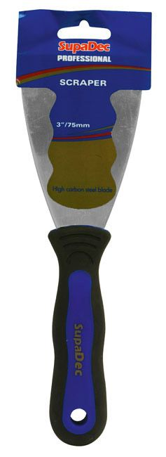 SupaDec Professional Soft Grip Paint Scrapers 3/75mm