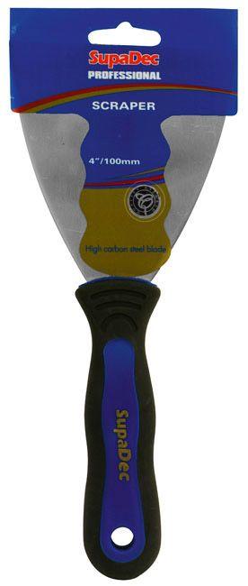 SupaDec Professional Soft Grip Paint Scrapers 4/100mm