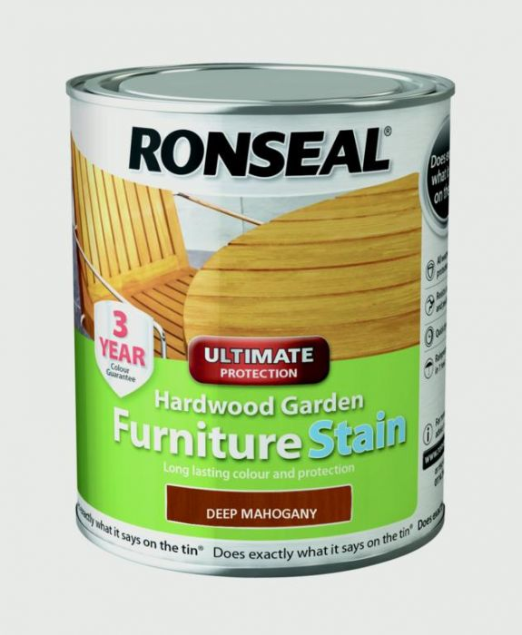 Ronseal Hardwood Furniture Stain 750ml Deep Mahogany