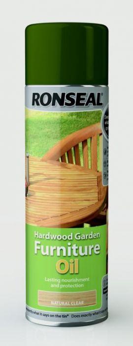 Ronseal Hardwood Furniture Oil 500ml Aerosol Natural Clear
