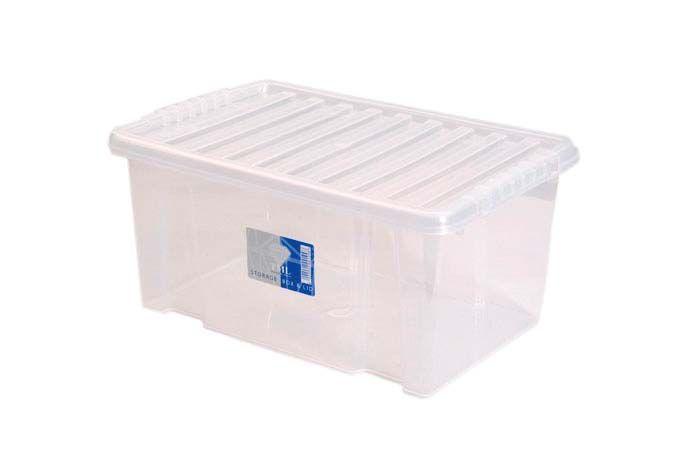 TML Storage Box & Black Lid 7L Clear