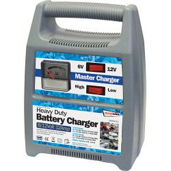 Streetwize Battery Charger - Plastic Cased 6/12V 12 Amp