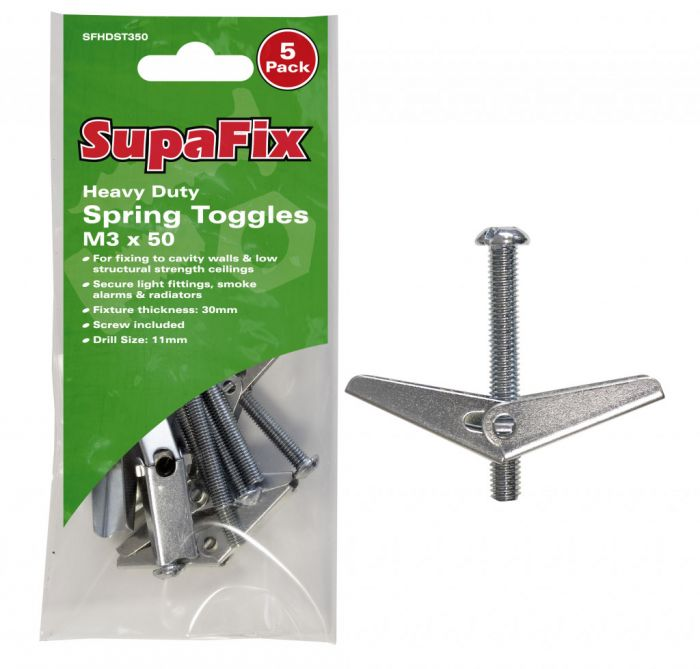 SupaFix Heavy Duty Spring Toggles M3 x 50