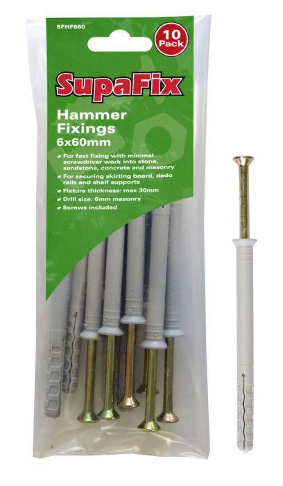 SupaFix Hammer Fixings M6X60