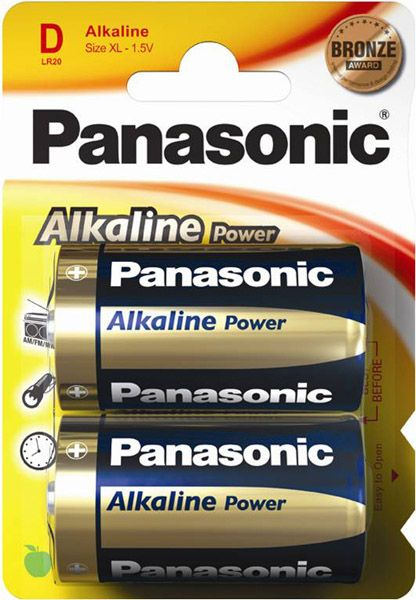 Panasonic Alkaline D Cell Card of 2
