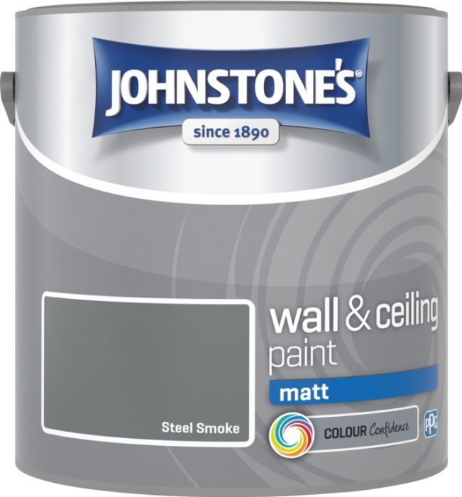 Johnstone's Wall & Ceiling Matt 2.5L Steel Smoke