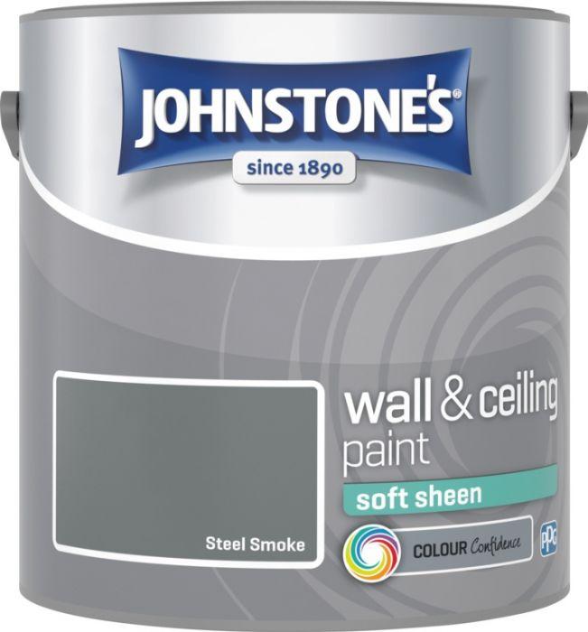 Johnstone's Wall & Ceiling Soft Sheen 2.5L Steel Smoke