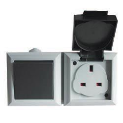 Dencon Outdoor 1Gang Switch + 13amp Socket
