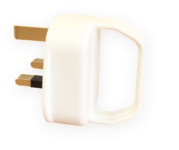 Dencon 13A Pull Plug to BS1363 White