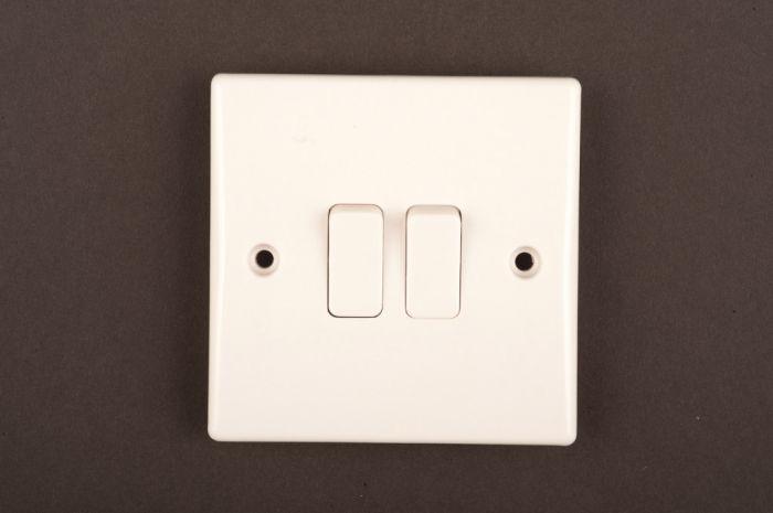 Dencon Slimline 10A 2G 2way Switch to BS3676
