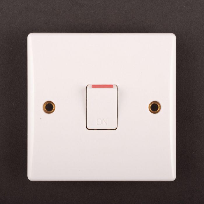 Dencon Slimline 20A Double Pole Flush Switch to BS3676